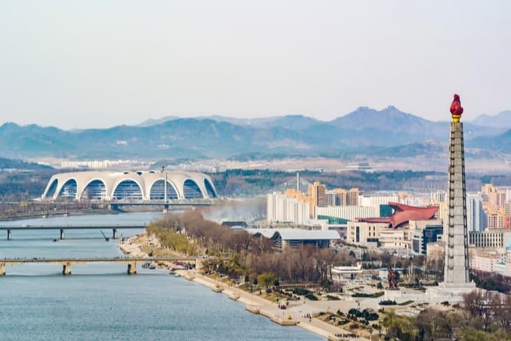 The Rungrado 1st of May Stadium in Pyongyang, North Korea
