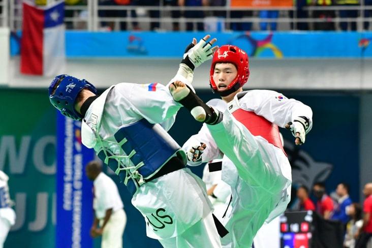 A Taekwondo match in South Korea