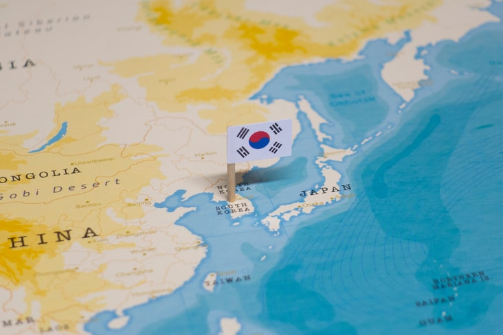 A map of the Korean Peninsula