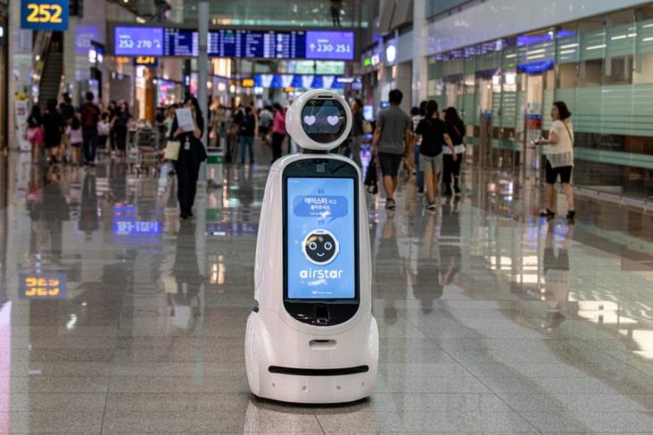 A robot in South Korea