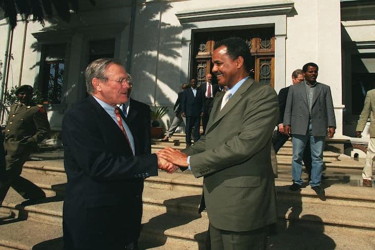 President Isaias Afwerki and Donald Rumsfeld