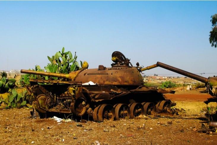 The tank graveyard in Eritrea