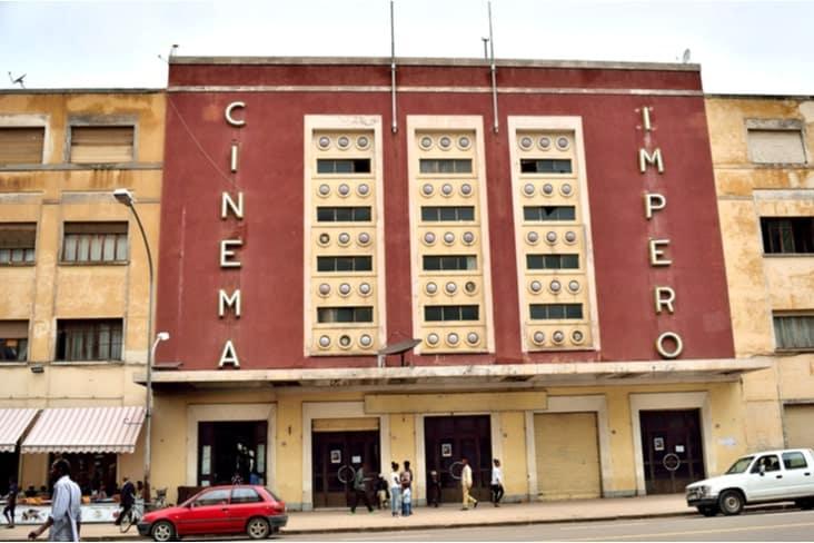 An art deco cinema in Asmara