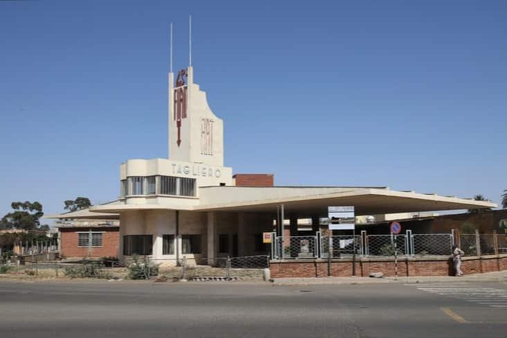 the Fiat Tagliero service station in Asmara