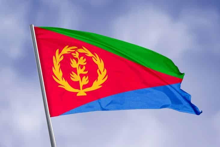 The flag of Eritrea