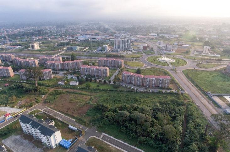 Aerial view of Bioko