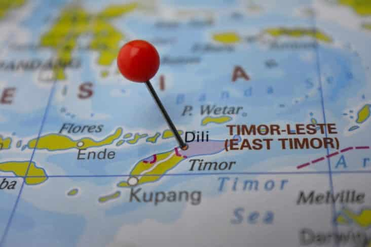 A map of East Timor