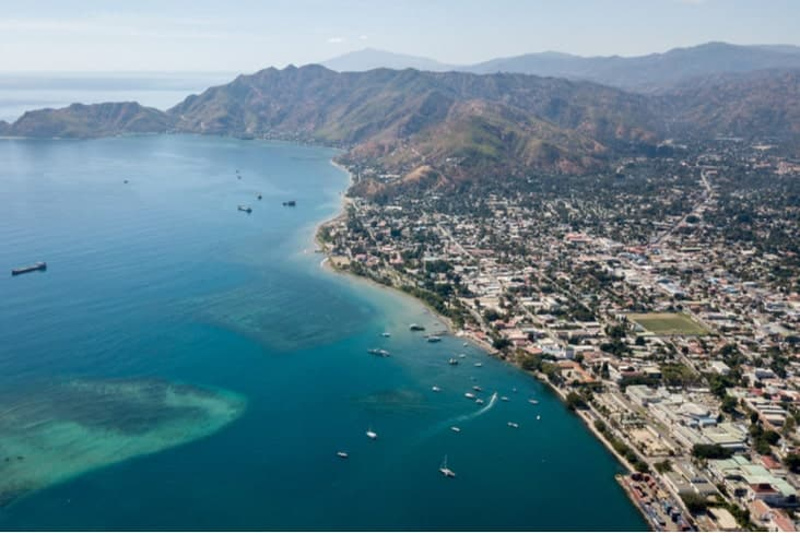 Aerial view of Dili East Timor
