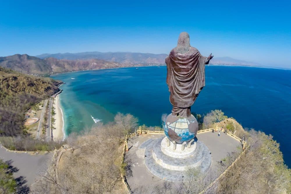 Aerial view of Cristo Rei