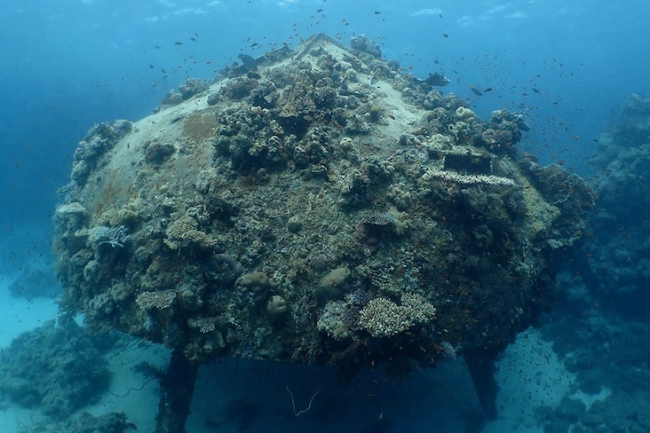 Underwater remains of Continental Shelf Station Two