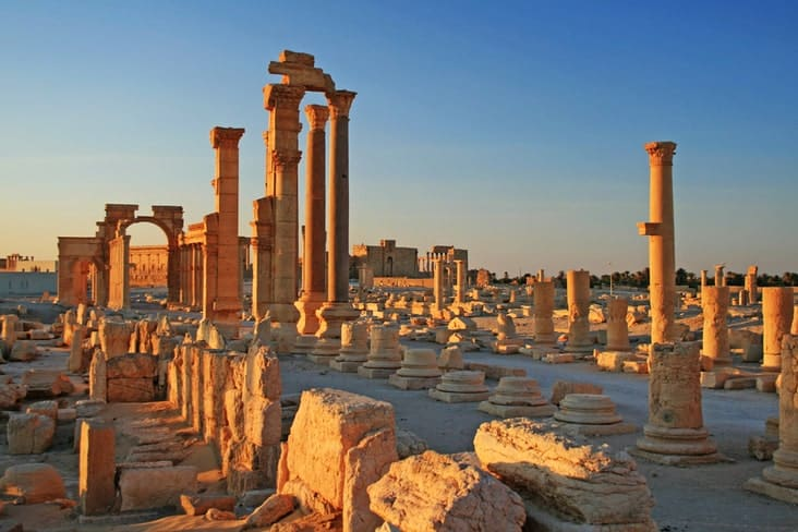The ancient Roman city of Palmyra before the war