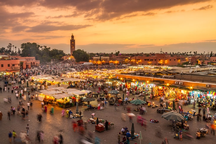 A view of Marrakesh in Morocco