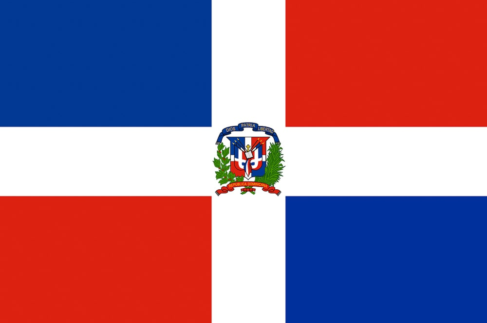 The flag of the Dominican Republic