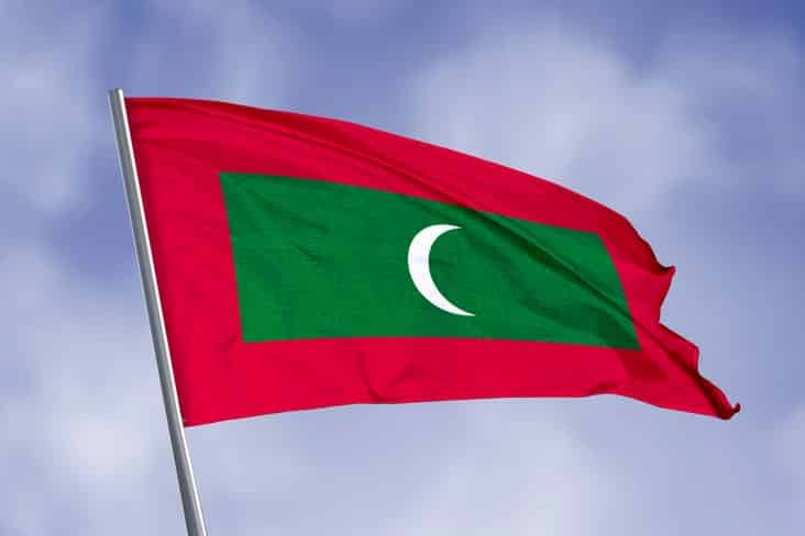 The flag of the Maldives
